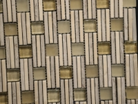 Cream Marfil Glass Yellow Mosaic