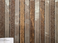 Metallic Mosaic Brown Strip